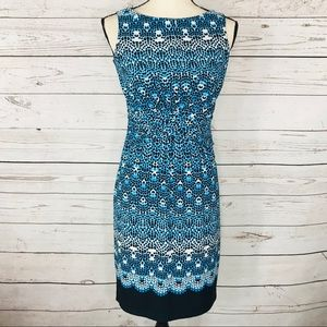 Donna Morgan Dress Sleeveless Draped Waist Stretch